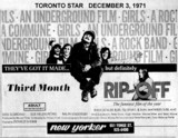 "TORONTO STAR AD FOR ""RIP OFF"" - NEW YORKER THEATRE"