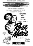 "TORONTO STAR AD FOR ""ROSE MARIE"" - CREST THEATRE"