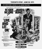 "TORONTO STAR AD FOR ""LIVE AND LET DIE"" - CARLTON THEATRE"