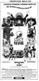 "TORONTO STAR AD FOR ""LUCY MAME"" EGLINTON THEATRE"