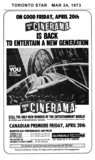 "TORONTO STAR AD FOR 'THIS IS CINERAMA"" - GLENDALE CINERAMA THEATRE"