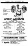 "TORONTO STAR AD FOR ""YOUNG WINSTON"" - FAIRLAWN THEATRE"