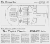 WINDSOR STAR STORY ON $700,000 RENOVATION TO MULTIPLEX THE CAPITOL