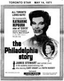 "TORONTO STAR AD FOR""THE PHILADELPHIA STORY"" - ODEON FAIRLAWN THEATRE"