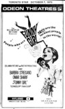 "TORONTO STAR AD FOR ""FUNNY GIRL"" - ODEON HYLAND THEATRE"