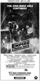 "TORONTO STAR AD FOR ""THE EMPIRE STRIKES BACK"" - UNIVERSITY THEATRE"