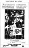"""TORONTO STAR AD FOR """"FAME"""" EGLINTON THEATRE"""