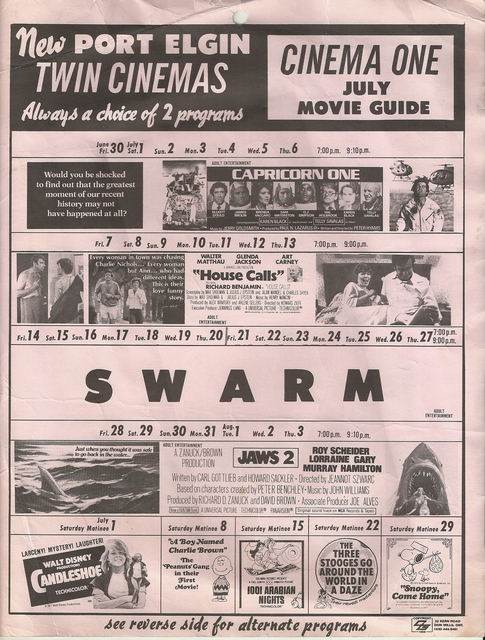 July 1978 Schedule for Screen I