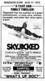 "WINDSOR STAR AD FOR ""SKYJACKED"" - CAPITOL THEATRE"