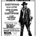 "WINDSOR STAR AD FOR ""JOE KIDD"" AT THE VANITY & TWIN EAST DRIVE IN"