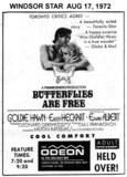 "WINDSOR STAR AD FOR ""BUTTERFLIES ARE FREE"" - ODEON THEATRE"