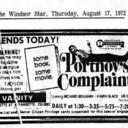 "WINDSOR STAR AD FOR""PORTNOY'S COMPLAINT"" - VANITY THEATRE"