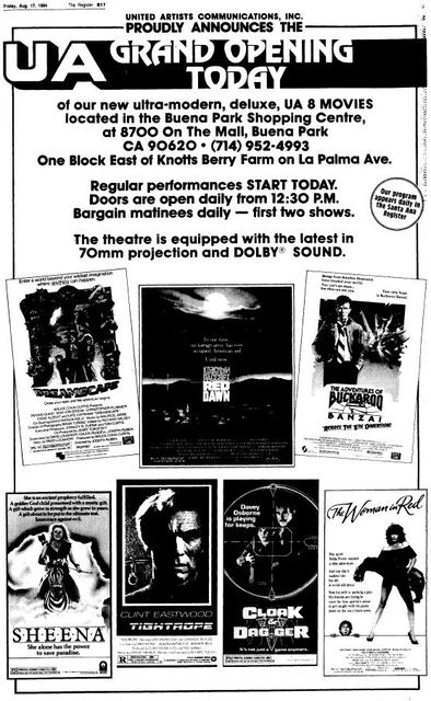 August 17th, 1984 grand opening ad