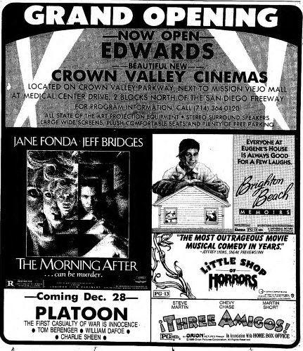 crown valley cinemas in mission viejo ca cinema treasures