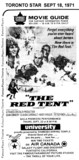 "TORONTO STAR AD FOR ""THE RED TENT"" - UNIVERSITY THEATRE"