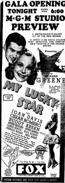 September 2nd, 1938 reopening ad