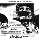 "TORONTO STAR AD FOR ""THE WIND AND THE LION"" - EGLINTON THEATRE"