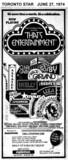 "TORONTO STAR AD FOR ""THAT'S ENTERTAINMENT"" EGLINTON THEATRE"