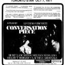 "TORONTO STAR AD FOR ""CONVERSATION PIECE"" SHERATON CINEMA 1"