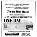 "TORONTO STAR AD FOR ""ONE DAY"" - INTERNATIONAL CINEMA"