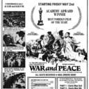 """TORONTO STAR AD FOR """"WAR AND PEACE"""" - CAPRI THEATRE"""