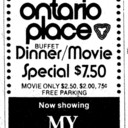 "TORONTO STAR AD FOR ""MY FAIR LADY"" ONTARIO PLACE CINESPHERE"