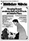 "TORONTO STAR AD FOR ""SLEEPING BEAUTY"" ONTARIO PLACE CINESPHERE"