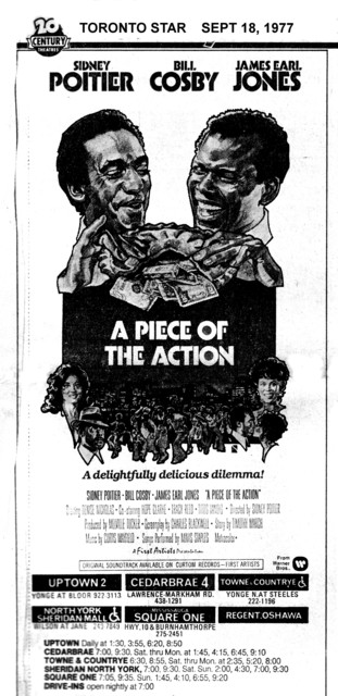 """TORONTO STAR AD FOR """"A PIECE OF THE ACTION"""" REGENT THEATRE OSHAWA AND OTHERS"""