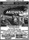 "TORONTO STAR AD FOR ""MIDWAY"" ELANE AND OTHER THEATRES"