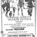 """TORONTO STAR AD FOR """"THE WIZ"""" ODEON - OSHAWA AND OTHER THEATRES"""