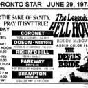 """TORONTO STAR AD FOR """"THE LEGEND OF HELL HOUSE"""" CORONET AND OTHER THEATRES"""