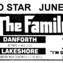 """TORONTO STAR AD FOR """"THE FAMILY"""" DANFORTH AND LAKESHORE THEATRES"""