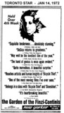 "TORONTO STAR AD FOR ""THE GARDEN OF THE FINZI-CONTINIS"" NEW YORKER THEATRE"