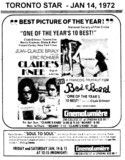 "TORONTO STAR AD FOR ""CLAIRE'S KNEE & BED AND BOARD"" CINEMA LUMIERE"