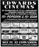Edwards response ad for the opening ad for this theatre