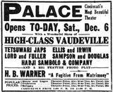December 6th, 1919 grand opening ad