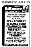 "TORONTO STAR AD FOR ""THE BILTMORE THEATRE"" 3 FEATURES"