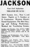 November 10th, 1929 reopening as Jackson