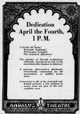 March 22nd, 1931 grand opening ad