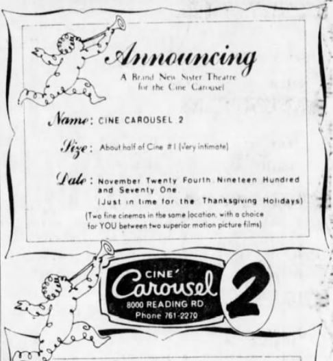 November 23rd 1971 grand opening for the 2nd screen.