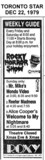 "TORONTO STAR AD FOR ""THE ROXY THEATRE"""
