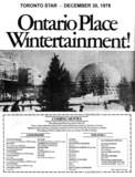 "TORONTO STAR AD FOR ""ONTARIO PLACE CINESPHERE MOVIES"""