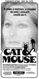 "TORONTO STAR AD FOR ""CAT AND MOUSE"" FINE ARTS (CAPITOL THEATRE)"