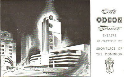 Odeon Toronto 1949 Post Card