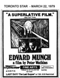 "TORONTO STAR AD FOR ""EDVARD MUNCH"" FINE ARTS THEATRE"