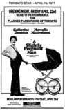 "TORONTO STAR AD FOR ""A SLIGHTLY PREGNANT MAN"" CAPITOL FINE ARTS THEATRE"