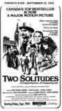 "TORONTO STAR AD FOR ""TWO SOLITUDES"" INTERNATIONAL CINEMA"