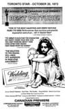"TORONTO STAR AD FOR ""WEDDING IN WHITE"" INTERNATIONAL CINEMA"