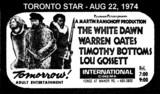 "TORONTO STAR AD FOR ""THE WHITE DAWN"" INTERNATIONAL CINEMA"