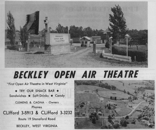 Ad for the Beckley Open Air Theatre